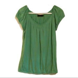 The Limited green pleated top size small